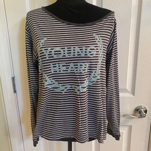 """WILDFOX """"Young Heart"""" Off the Shoulder Long Sleeve"""